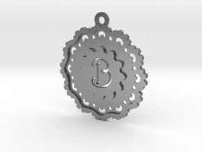 Magic Letter B Pendant in Natural Silver