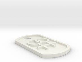 Lesbian Symbol Dog Tag in White Natural Versatile Plastic