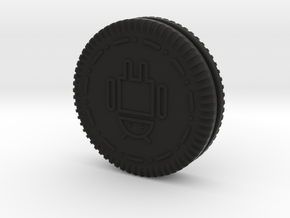 Android Oreo Cookie in Black Natural Versatile Plastic