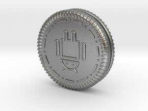 Android Oreo Cookie in Natural Silver