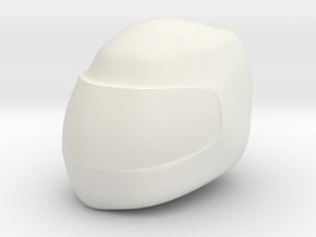 FR02 F1 Style Helmet in White Natural Versatile Plastic