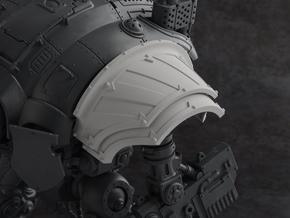 Hazard Warriors - Left Shoulder Pad in Smooth Fine Detail Plastic