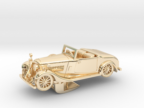 Bentley 1930 4,5L 1:48 in 14k Gold Plated Brass