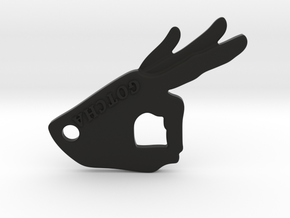Gotcha Keychain v2 in Black Natural Versatile Plastic: Small