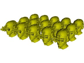 1/50 scale SOCOM operator D helmet & heads x 15 in Smoothest Fine Detail Plastic
