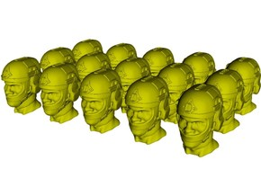 1/50 scale SOCOM operator E helmet & heads x 15 in Smoothest Fine Detail Plastic