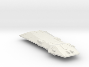 3788 Scale Hydran Monarch Battleship (BB) CVN in White Natural Versatile Plastic