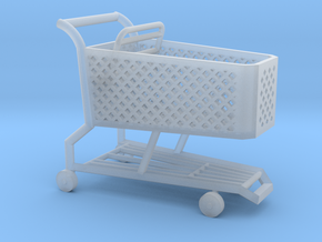 1:87 Shopping Cart in Smoothest Fine Detail Plastic