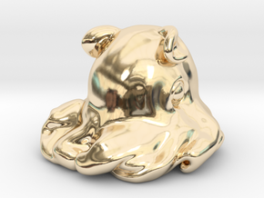Dumbo octopus At 1.5 inch in 14k Gold Plated Brass: Small