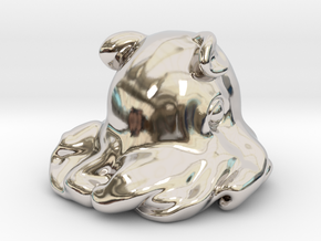 Dumbo octopus At 1.5 inch in Rhodium Plated Brass: Small