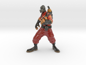 TF2 pyro in Glossy Full Color Sandstone: Small