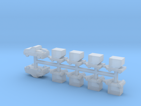 High Speed Baggage Tractor Set in Smoothest Fine Detail Plastic
