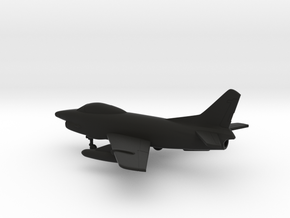 Fiat G.91R/3 in Black Natural Versatile Plastic: 1:160 - N