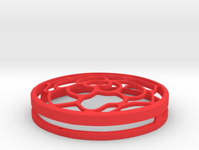 Rose Pendant in Red Processed Versatile Plastic