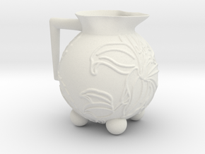 Hibiscus Pot in White Natural Versatile Plastic
