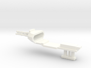1:100 Pelican nose Gun Gear down in White Processed Versatile Plastic