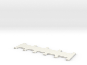 1x3/1x4 7mm Needle Selector in White Natural Versatile Plastic