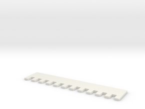 1x1 7mm Needle Selector in White Natural Versatile Plastic