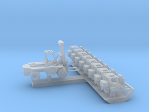 1:350 Scale Aircraft Carrier Forklift Set #2 in Smooth Fine Detail Plastic
