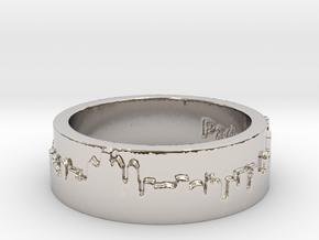 Philadelphia Skyline Ring in Rhodium Plated Brass