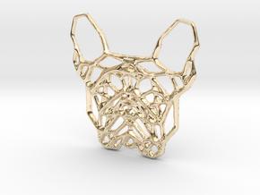 French Bulldog Pendant in 14K Yellow Gold