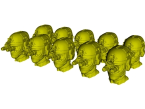 1/50 scale SOCOM operator F helmet & heads x 10 in Smoothest Fine Detail Plastic