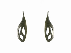 Flos earrings in Polished Nickel Steel