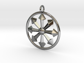 chaos symbol in Polished Silver