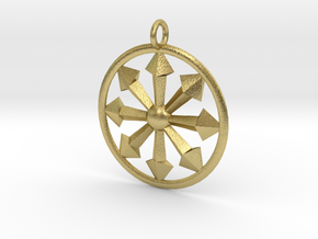 chaos symbol in Natural Brass