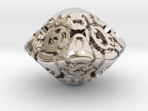 Art Nouveau d10 in Platinum