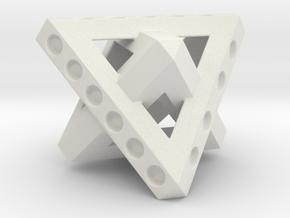 Duo-Tet Stagger (Metal) in White Natural Versatile Plastic
