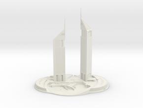 Jumeirah Emirates Towers (1:1800) in White Natural Versatile Plastic