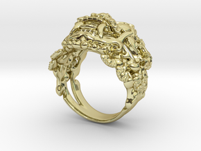 Balinese Barong Ring in 18k Gold Plated Brass: 9 / 59