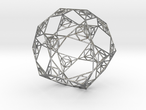 Sierpinski Wire Dodecahedron in Natural Silver