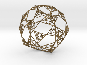 Sierpinski Wire Dodecahedron in Natural Bronze