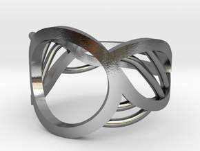 Triton Ring in Polished Silver: 5 / 49