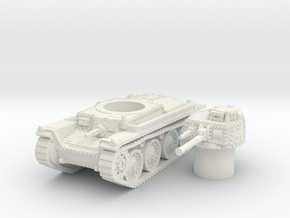 panzer 38t A scale 1/100 in White Natural Versatile Plastic