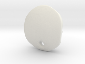 Stier-Kopf in White Natural Versatile Plastic