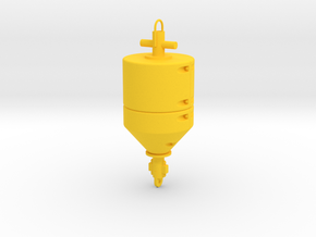 Mooring Buoy Model 2 in Yellow Processed Versatile Plastic