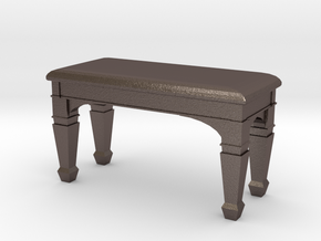 1:48 Piano Bench in Polished Bronzed Silver Steel