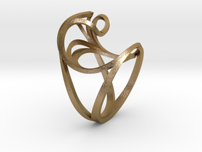 Benthe Ring in Polished Gold Steel: 10 / 61.5