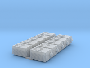 Miniature HO scale Air Conditioners (x10)  in Smooth Fine Detail Plastic
