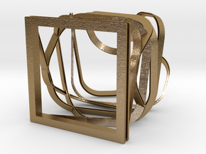 Sculpture nº3 in Polished Gold Steel