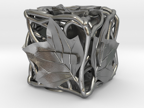 Fudge Botanical d6 (Tulip Tree) in Natural Silver