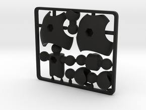 MoBility Stopmotion Torso for ModiBot in Black Premium Versatile Plastic