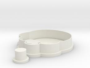 mangosteen-cookiecutter in White Natural Versatile Plastic