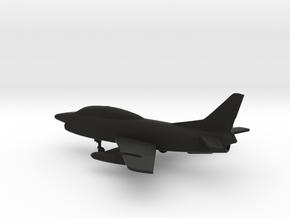 Fiat G.91T/1 in Black Natural Versatile Plastic: 1:160 - N