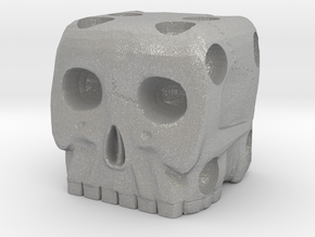 Skull Die 6 Sided Skeleton Bone Dice in Aluminum