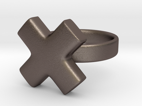 The X in Polished Bronzed Silver Steel: 5 / 49