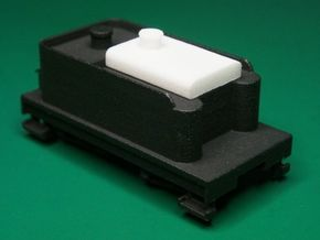 Small Oil Tank for F&C Tender , HOn30 in White Processed Versatile Plastic